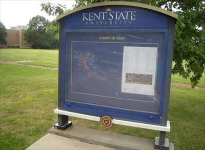 Kent State University, Kent, Ohio - 'You Are Here' Maps on ... on dallas baptist campus map, kent state shirt, southern illinois campus map, louisiana lafayette campus map, ksu campus map, navy campus map, kent state university main campus, kansas wesleyan campus map, idaho campus map, kent cliffs ny map, army campus map, kent state campus life, kent state school map, utah valley campus map, saginaw valley campus map, kent state student life, nevada reno campus map, kent state campus buildings, hawaii campus map, kent state schwartz center,