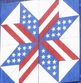 Patriotic Barn.