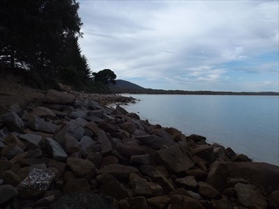 The northern part of the 'Beach', beside the Boat Ramp.