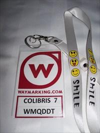 Colibris 7 et son Waymark plastifier.  Colibris 7 and Waymark laminated.