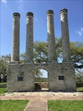Image for Old Baylor Ruins. Columns in Old Baylor Park - Indepence Tx.