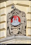 Image for Znak Príbrami na mestském urade / Príbram CoA on Municipal Office - Príbram (Central Bohemia)