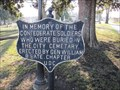 Image for Confederate Memorial Plaque - City Cemetery - Nashville, Tennessee