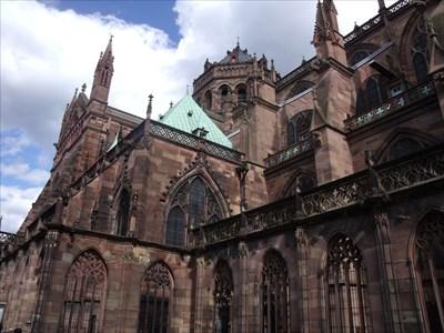 Une partie de la Cathédrale de Strasbourg. Nous avons remarqué les grosses différences de couleurs sur l