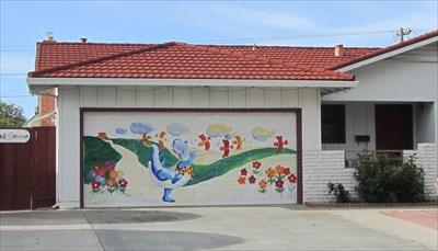 dinosaurs garage door - sunnyvale, ca - garage door art on