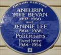 Image for Aneurin Bevan and Jennie Lee - Cliveden Place, London, UK