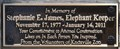 Image for Stephanie E. James, Elephant Keeper ~ Knoxville, Tennessee