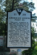 Image for 21- 29 American Legion Post #1 / 2nd Lieutenant Fred H. Sexton