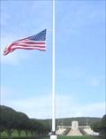Image for US Flag Flown at Half-Staff - National Memorial Cemetery - Honolulu, Oahu, HI
