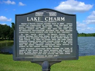 lake charm florida historical markers on waymarking