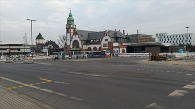 bisheriger ZOB Busbahnhof am Bahnhof Bad Homburg