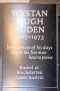 Image for W H (Wystan Hugh) Auden - Westminster Abbey, London, UK