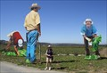 """Image for John Cerney agricultural labor cutouts at """"The Farm"""""""