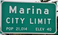 Image for Marina, California ~ Elevation 40 Feet