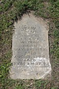 Image for EARLIEST Marked Grave in Cade Cemetery - Streetman, TX