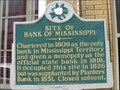 Image for Site of Bank of Mississippi - Natchez, MS