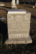 Image for George E. Wallace -- Pioneer Cemetery, Garland TX