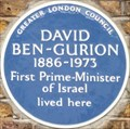 Image for FIRST - Prime Minister of Israel - Warrington Crescent, London, UK
