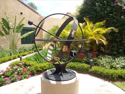 veritas vita visited Garden of Allah Villas Armillary Sphere
