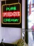 Image for Newport Fudgery neon sign - Newport, Rhode Island  USA