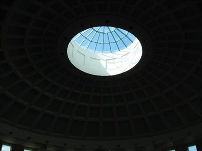 The center of the rotunda was open to let in the view of the sky.
