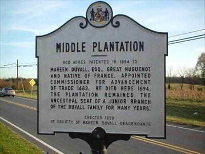 Middle Plantation (Davidsonville, Maryland) imggroundspeakcomwaymarkingdisplaya569b14c26