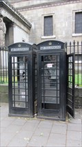 Image for Black telephone box - Eusten Road, London UK