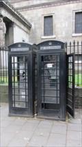 Image for Black telephone box - Eusten Road, London UK