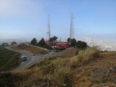 Twin Peaks Radio Towers and View of San Francisco