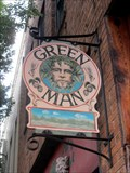 Image for Green Man Pub Sign, Asheville, NC