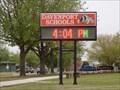 Image for Davenport Schools Time/Temp sign - Davenport, OK