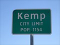 Image for Kemp, TX - Population 1154