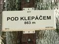 Image for Elevation Sign - Pod Klepacem, Czech Republic.863m
