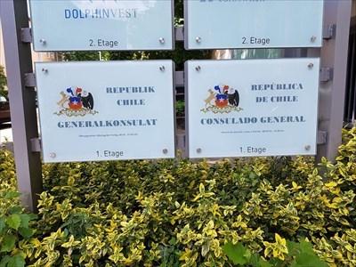 Generalkonsulat von Chile - Hinweistafel