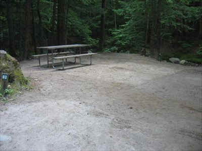 The picnic table side of our site.