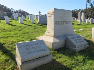 William R Shafter, Medal of Honor, with Wift Nearby, San Francisco National Cemetery