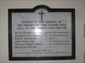 Image for Great War Memorial - St Mary's Church, Tyneham, Dorset, UK