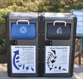 Image for Solar Powered Trash and Recycling Compacting Bins