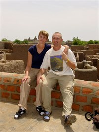 Here we are at the rooftops of Djenné