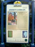 Image for Lincoln's Landscape marker - Lincoln Memorial Garden, Springfield, IL