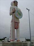 Image for Giant Indian Chief - Big Cabin, Oklahoma, USA.