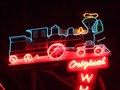 Image for Whistle Stop Train - Neon - Pasadena, California. USA.
