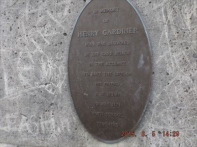 Plaque for Henry Gardiner, on the obelisk, May 1874