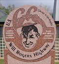 Image for Historic route 66 - Will Rogers Highway Marker - Clinton, Oklahoma. USA.