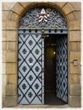 Image for Vstupní dvere Svatojánské koleje, Svatý Jan pod Skalou, CZ