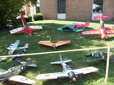 This display was set up by a local Model Airplane Club.