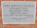 Image for 1964 - First Baptist Church - Rosenberg, TX
