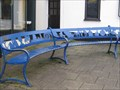 Image for Narberth blue circular seat  - Pembrokeshire