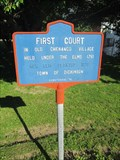 Image for First Court in the Old Chenango Village - Dickinson, NY