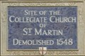 Image for Collegiate Church of St Martin - St Martin's Le Grand, London, UK